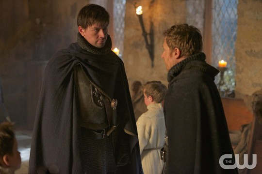 Pictured: (L-R) Torrance Coombs as Bash and Vincent Nappo as Renaude Photo Credit: Sven Frenzel/ The CW