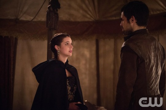 Pictured: Adelaide Kane as Mary Queen of Scotland and France and Sean Teale as Conde Photo Credit: Christos Kalohorides/ The CW