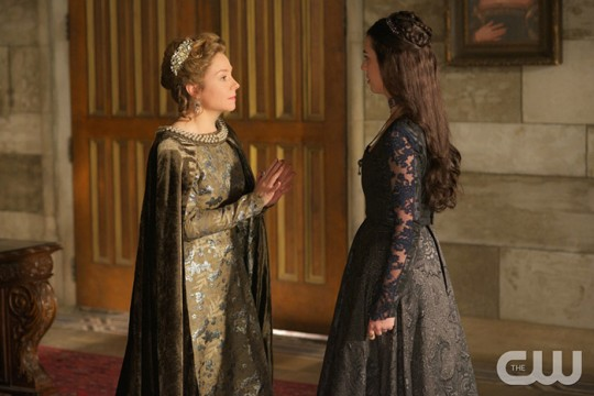 Pictured: Megan Follows as Catherine de Medici and Adelaide Kane as Mary Queen of Scotland and France Photo Credit: Sven Frenzel. The CW
