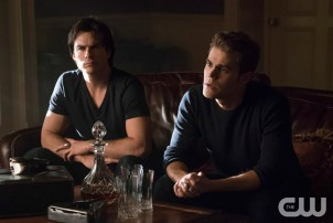 Pictured (L-R): Ian Somerhalder as Damon and Paul Wesley as Stefan Photo Credit: Annette Brown/The CW