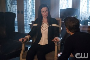 Pictured (L-R): Annie Wersching as Lily and Paul Wesley as Stefan -Photo Credit: Annette Brown/The CW