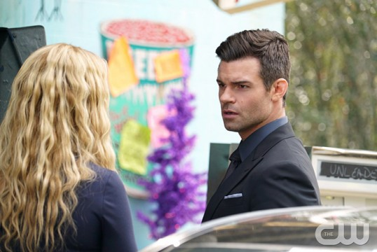 Pictured (L-R): Claire Holt as Rebekah and Daniel Gillies as Elijah Photo Credit: Annette Brown/The CW