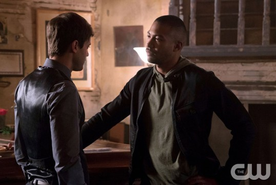 Pictured (L-R): Oliver Ackland as Tristan and Charles Michael Davis as Marcel Photo Credit: Annette Brown/The CW