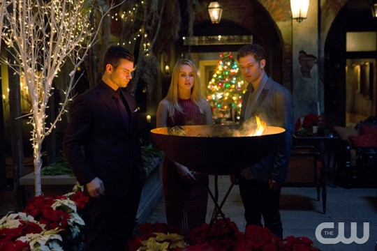 Pictured (L-R): Daniel Gillies as Elijah, Claire Holt as Rebekah and Joseph Morgan as Klaus Photo Credit: Eli Joshua Ade/The CW