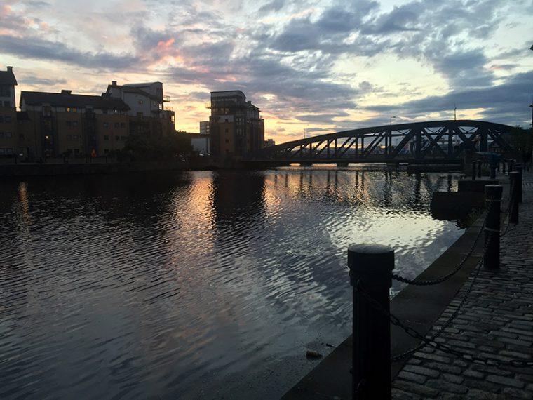 Sunset in Edinburgh, Scotland - Leith