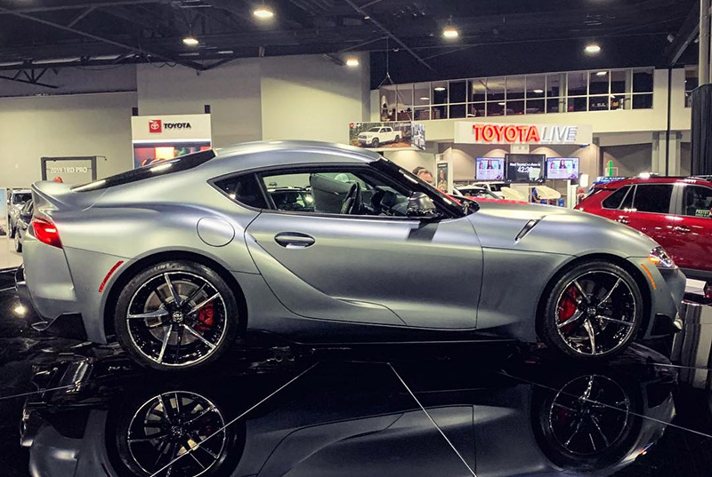 2020 Toyota Supra at the Atlanta International Auto Show