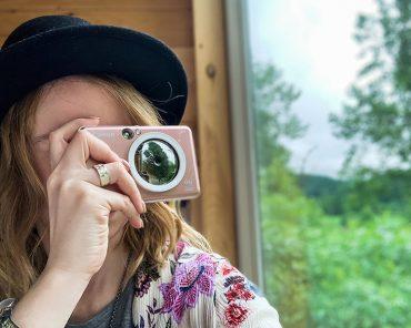 Canon IVY Cliq+ Instant Film Camera - Rose Gold