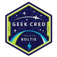 Geek Cred Badge: Boltie