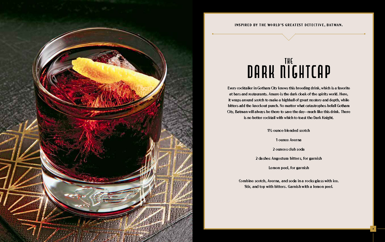 FanBolt - Gotham City Cocktail - The Dark Nightcap