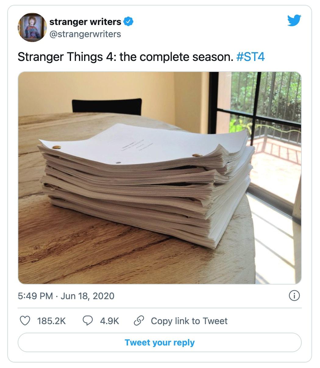Stranger Things Season 4 Writers