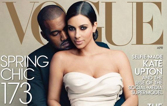 Kim Kardashian and Kanye West on Vogue