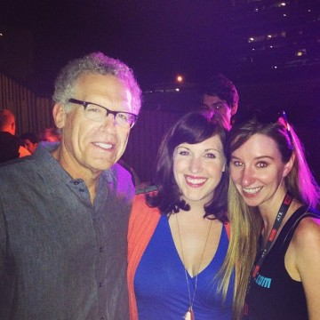 Carlton Cuse and Allison Tolman with FanBolt Editor Emma Loggins