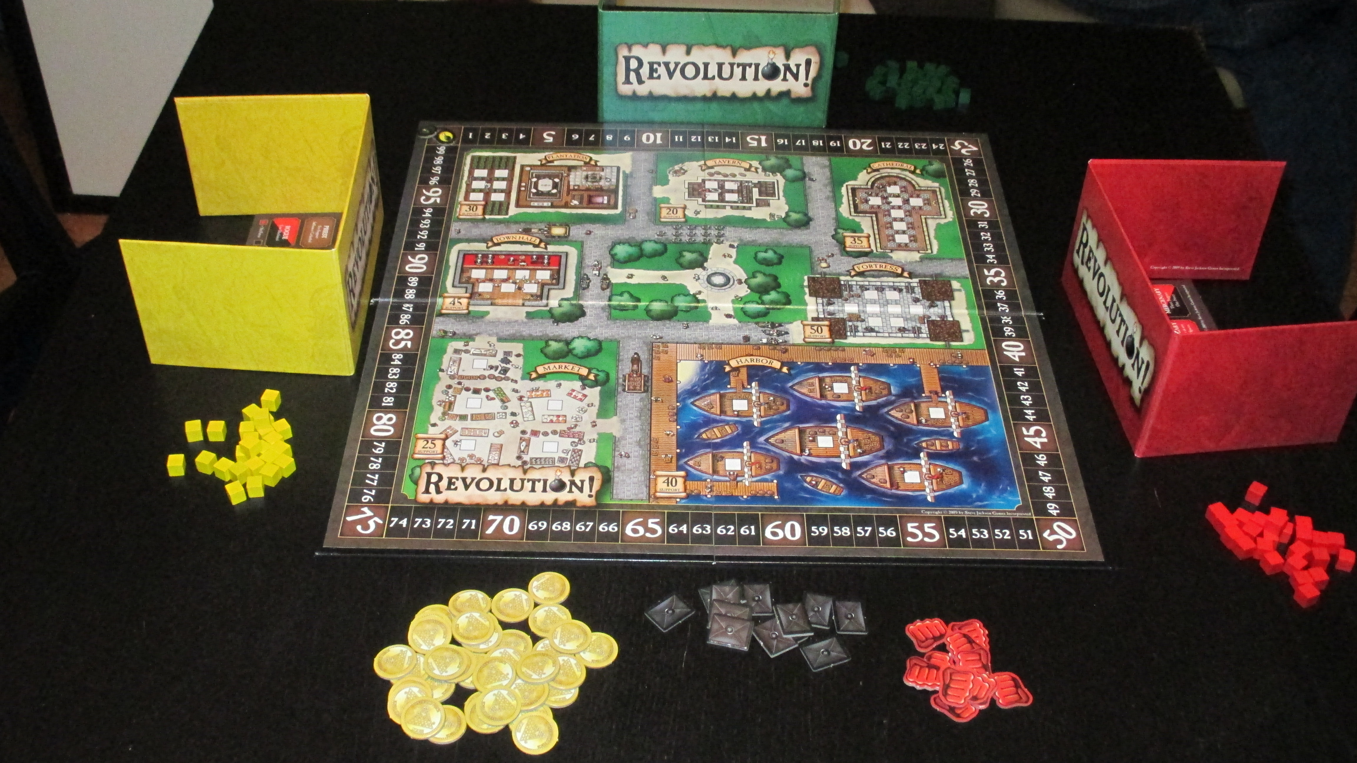 Set up for a 3-player game