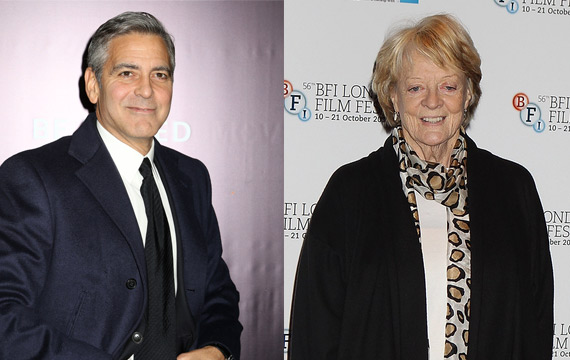 George-Clooney-Maggie-Smith