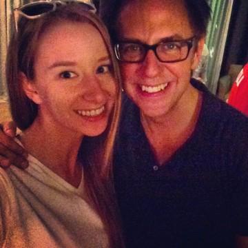 Emma Loggins and James Gunn