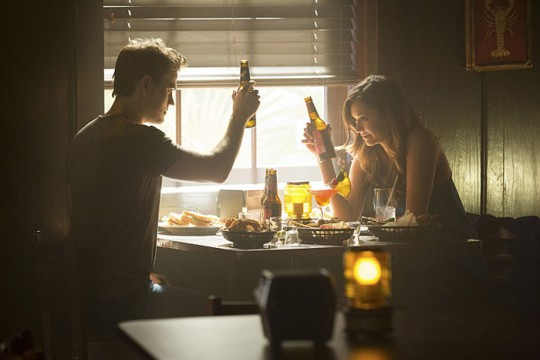 Pictured: (L-R) Paul Wesley as Stefan and Nina Dobrev as Elena Photo Credit: Bob Mahoney/ The CW