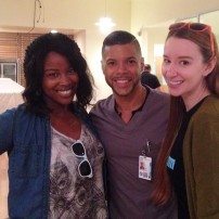 Emma Loggins and Jasmine Alyce with Wilson Cruz