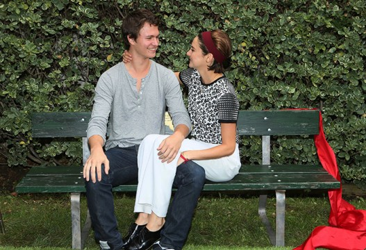 THE FAULT IN OUR STARS bench dedication ceremony