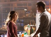 Pictured: (L-R)Danielle Campbell as Davina and Daniel Sharman as Kaleb Photo Credit: Bob Mahoney/ The CW