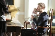 Pictured: (L-R) Phoebe Tonkin as Hayley (back-to-camera) and Joseph Morgan as Klaus Photo Credit: Annette Brown/The CW
