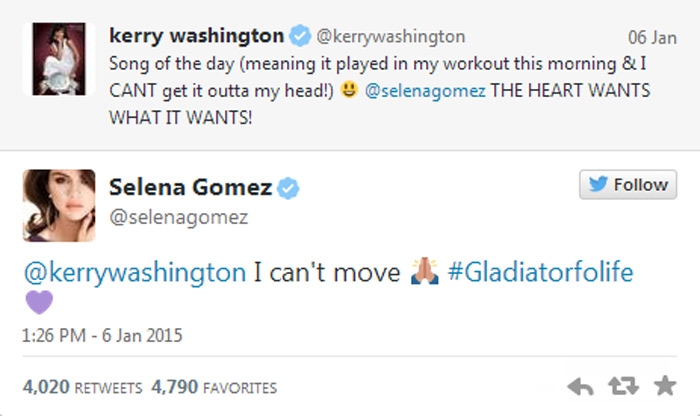 Selena Gomez Kerry Washington