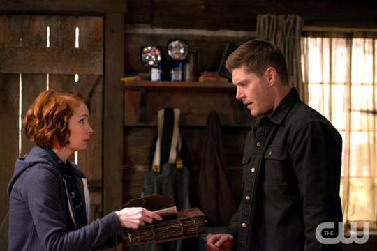 Pictured: (L-R) Felicia Day as Charlie and Jensen Ackles as Dean Photo Credit Diyah Pera/ The CW