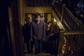 Pictured: Freddie Highmore, Olivia Cooke and Max Thieriot Photo Credit:James Dittiger/ A&E Networks