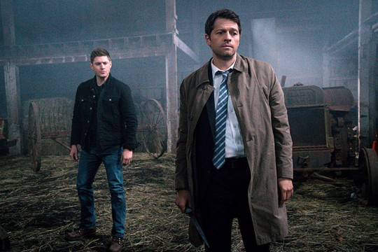 Pictured: (L-R)Jensen Ackles as Dean and Misha Collins as Castiel Photo Credit: Liane Hentscher/ The CW