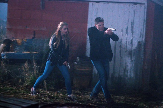 Pictured: (L-R) Kathryn Newton as Claire Novak and Jensen Ackles as Dean Photo Credit: Liane Hentscher/ The CW