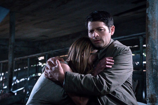Pictured: (L-R)Leisha Hailey as Amelia Novak and Misha Collins as Castiel Photo Credit: Liane Hentscher/ The CW