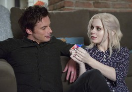 Pictured: (L-R) Bradley James as Lowell Tracey and Rose McIver as Liv Moore Photo Credit: Diyah Pera/ The CW