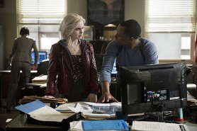 Pictured: Rose McIver as Liv Moore and Malcolm Goodwin as Clive Babineaux and Photo Credit Diyah Pera/The CW