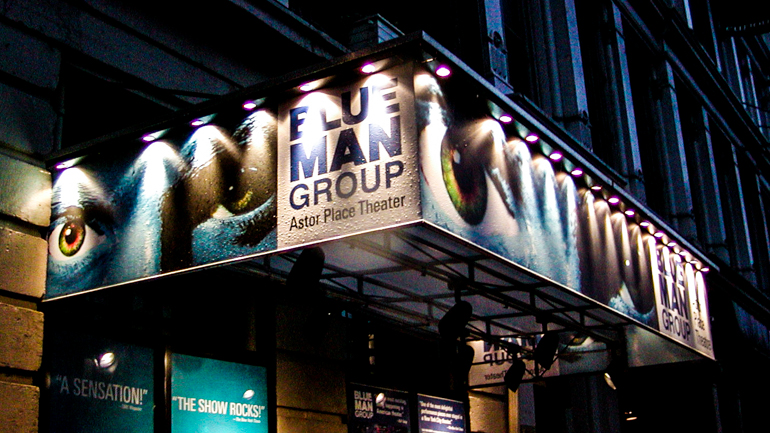 My first Blue Man Group show in 2004 at the Astor Place Theater in New York
