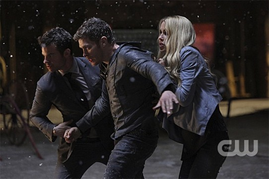 Pictured: Daniel Gilles as Elija, Joseph Morgan as Klaus and Claire Holt as Rebekah Photo Credit: Annette Brown/ The CW