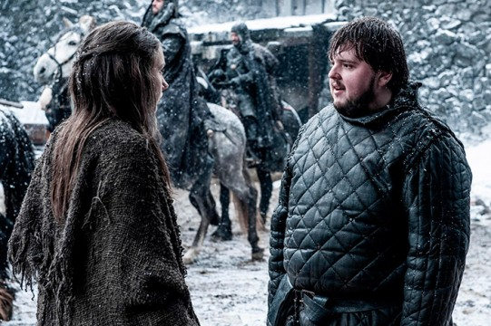 Pictured: Hannah Murray as Gilly, John Bradley as Samwell Tarly Photographer: Helen Sloan/HBO