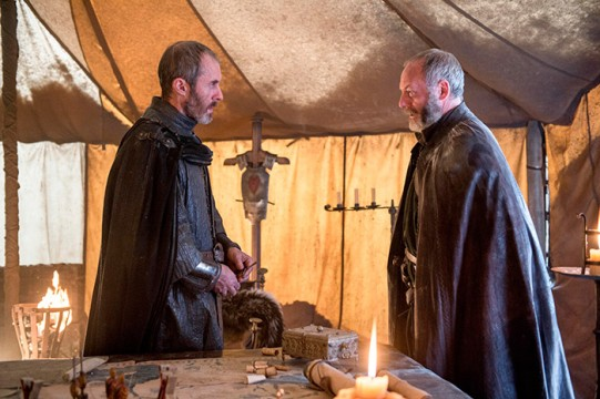 Pictured: Stephen Dillane as Stannis Baratheon, Liam Cunningham as Davos Seaworth Photographer: Helen Sloan/HBO