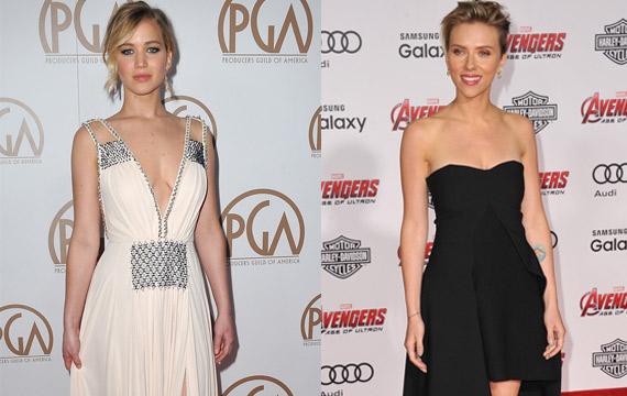 Jennifer-Lawrence-Scarlett Johansson