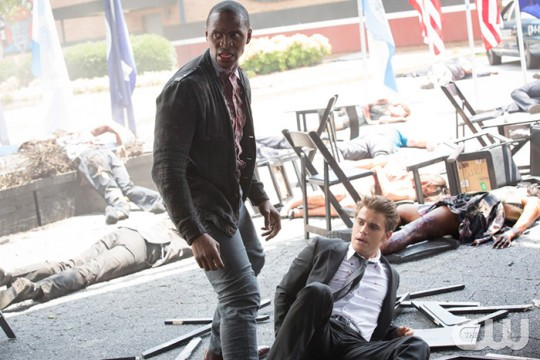 Pictured (L-R): Jaiden Kaine as Beau and Paul Wesley as Stefan Photo: Bob Mahoney/The CW