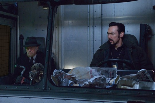 Pictured: (l-r) David Bradley as Abraham Setrakian, Kevin Durand as Vasiliy Fet CR: Michael Gibson/FX