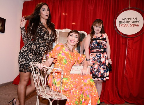 Pictured: Liana Mendoza (left), Naomi Grossman (center) and Jamie Brewer (right) Photo Credit: Jonathan Stone