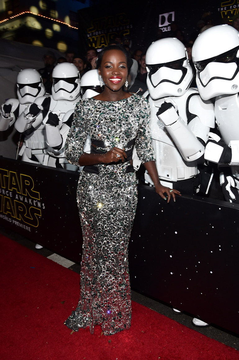 Lupita Nyong'o at the Star Wars Premiere