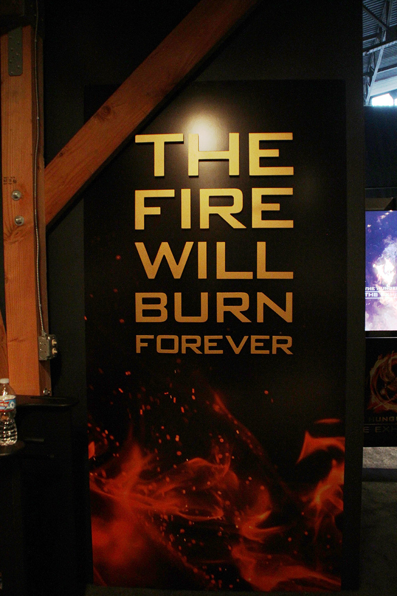 The Hunger Games Exhibition - The Fire Will Burn Forever