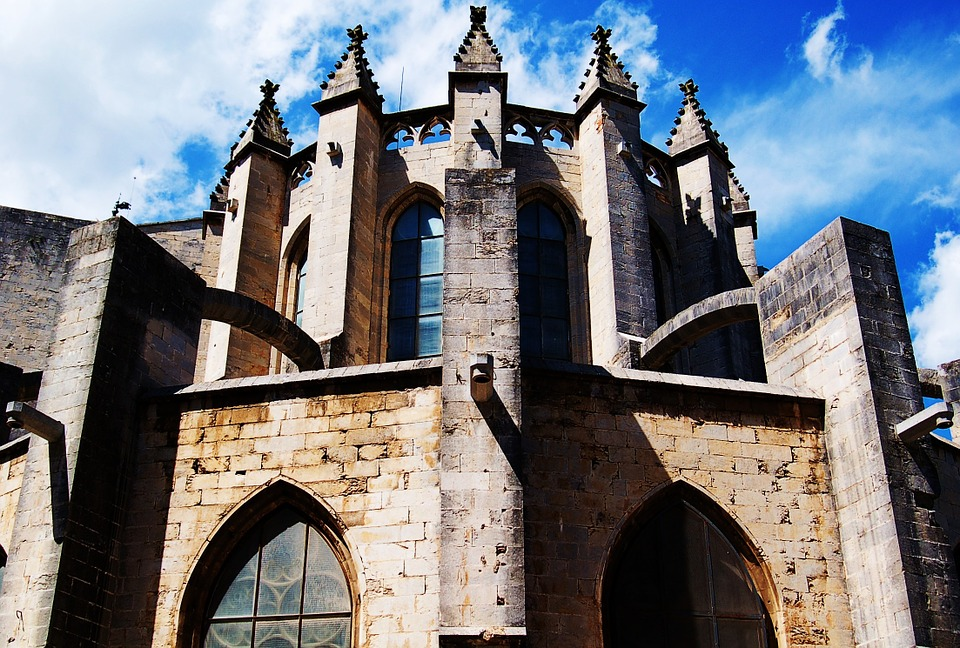 Church Gerona Girona Architecture Cathedral Arches