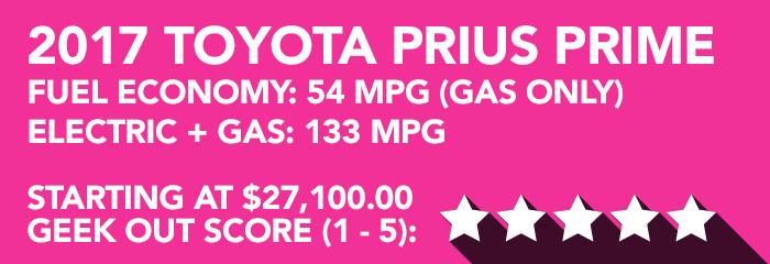 Geek Girl Review: 2017 Toyota Prius Prime Premium