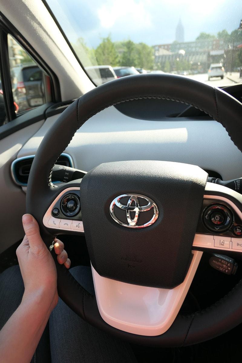 Geek Girl Review: 2017 Toyota Prius Prime Interior Wheel