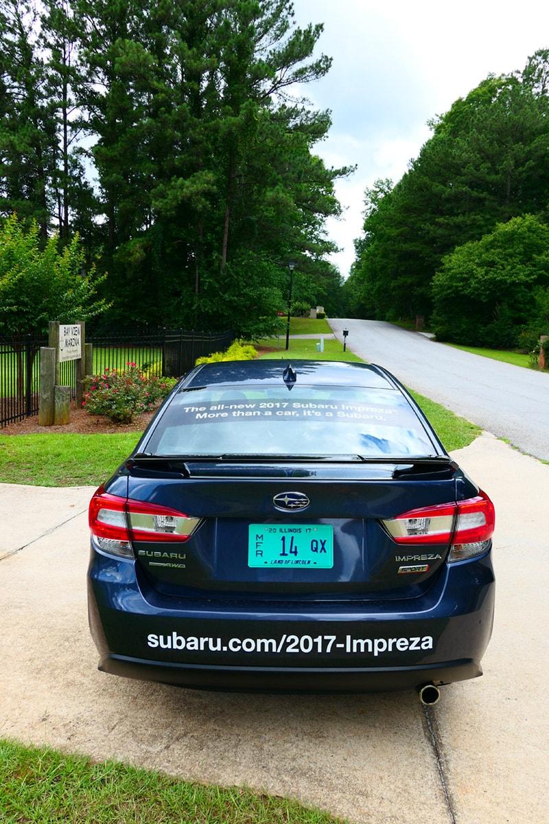 2017 Subaru Impreza 2.0i Sport: Rear of Car