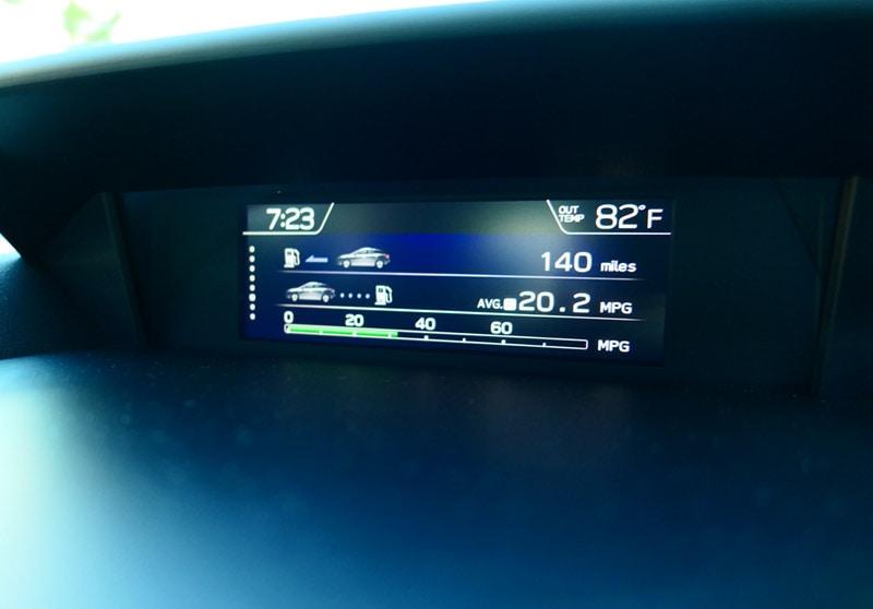 2017 Subaru Impreza 2.0i Sport: Real-Time Miles Per Gallon