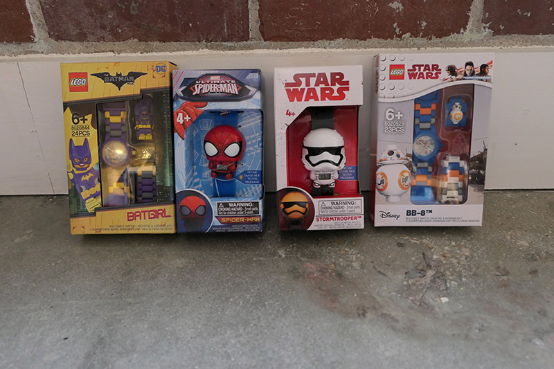 Lego Watches: Star Wars, Batgirl, Spider-Man