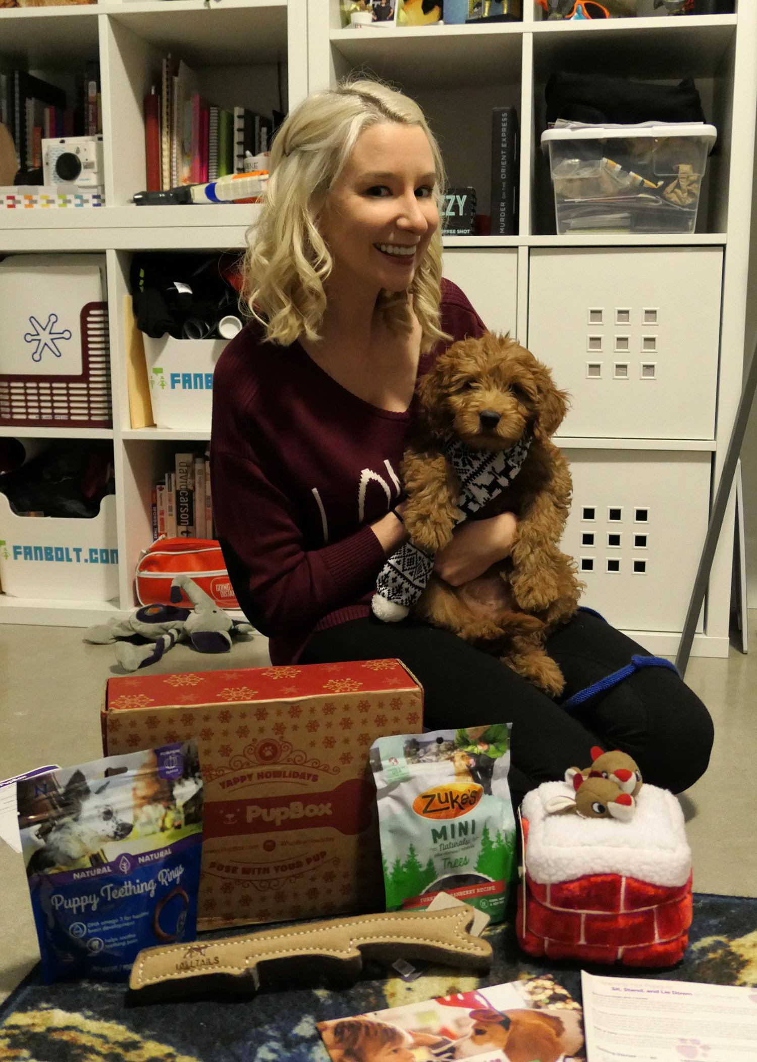 Emma and Fozzie PupBox December 2017