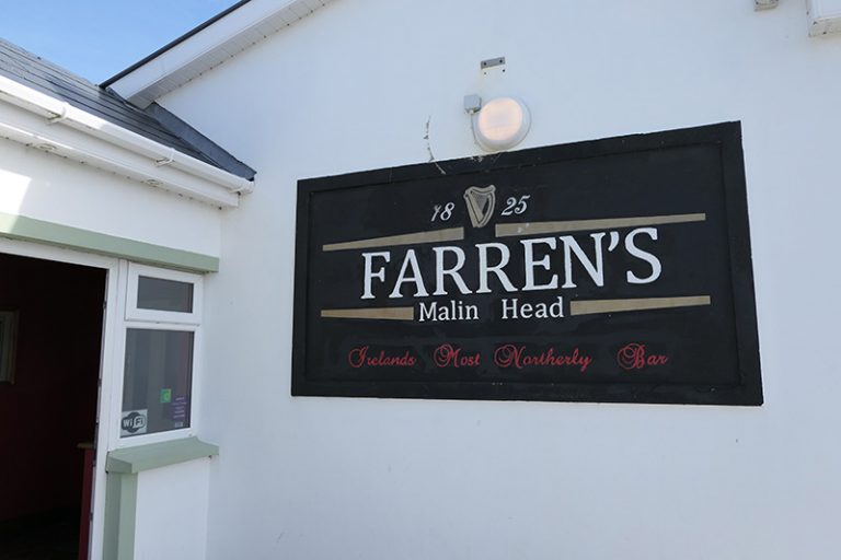 Farren's Bar in Malin Head